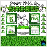 Bunnies Number Match Up Math Center