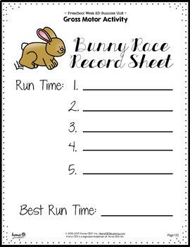 Bunnies Preschool Unit - Printables for Preschool, PreK, Homeschool Preschool