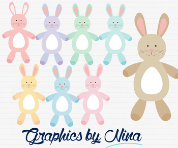 Bunnies Rabbits Felt Animal Clipart
