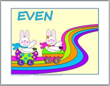 Easter Math Activities - Odd and Even Numbers Sorting