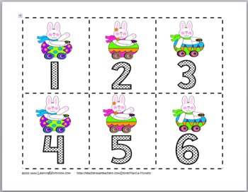 Spring Math Activities - Odd and Even Numbers Sorting