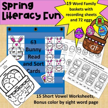 Bunnies and Baskets- A word families game