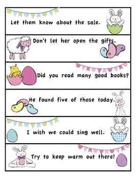 Easter Activities Kindergarten 1st 2nd 3rd Sight Word Sentence Sort