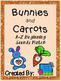 April Bunnies and Carrots Beginning Sound Match