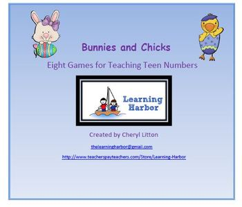 Bunnies and Chicks Eight Games For Teaching Teen Numbers