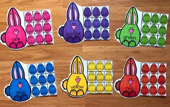 Bunnies and Eggs Color Sorting Mats