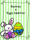 Bunnies and Eggs mini eraser ten frame and recording sheet!