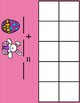 Bunnies and Eggs mini eraser ten frame and recording sheet!