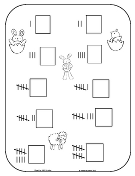 Bunnies and Friends Counting with Tally Marks