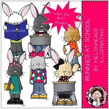 Bunnies clip art - At School - Mini - Melonheadz Clipart