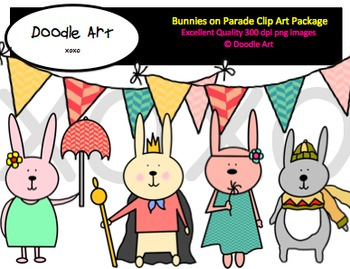 Bunnies on Parade Clipart Pack