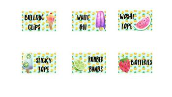 Bunnings Teacher Toolkit Editable Labels Tropical #ausbts18
