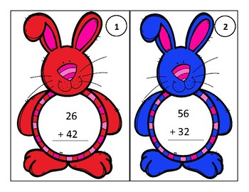Bunny Addition (Two-Digit Addition, no regrouping)