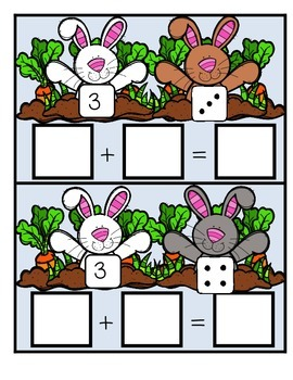 Bunny Addition Write & Wipe Center for K-1