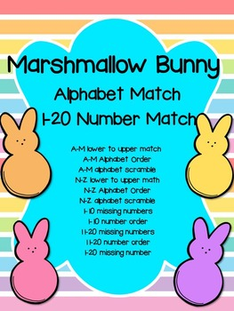 Bunny Alphabet and Number Match- Easter or Spring
