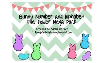 Bunny Alphabet and Number Sense File Folder Mega Pack (Autism  Work Task)