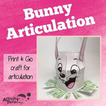 Bunny Articulation: No Prep, No Mess Craftivity