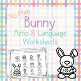 Bunny Articulation and Language NO PREP Worksheets