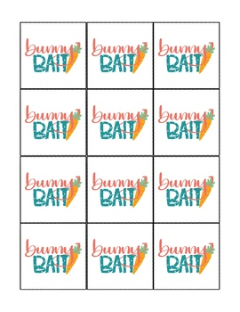 photo relating to Bunny Bait Printable referred to as Bunny Bait - Easter Spring Present Tags, Vacation Tags