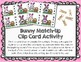 Bunny Beginning Sounds Letter Matching Clip Cards and Pocket Chart