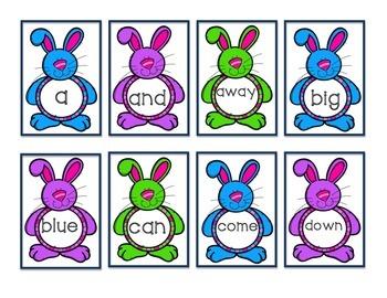 Bunny Belly Pre-Primer Words Flashcards