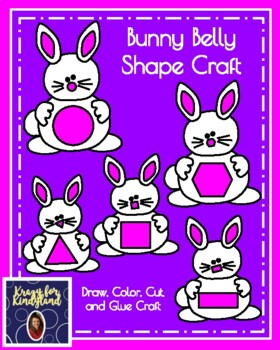 Easter, Spring Shape Craft: Bunny Belly