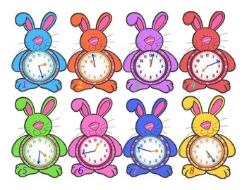 Bunny Belly Time to the Minute with Number Lines