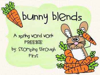 Bunny Blends Word Word- A Spring FREEBIE to practice blends