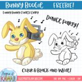 Bunny Boogie Clipart FREEBIE! #TPTFunnyBunny
