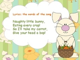 Bunny Bop - an Easter Song for reviewing ta/titi/shh and so/mi