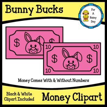 Bunny Bucks Play Money Clipart (Easter Play Money Clipart)