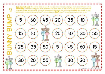 Bunny Bump Multiplication Skip Counting by Fives