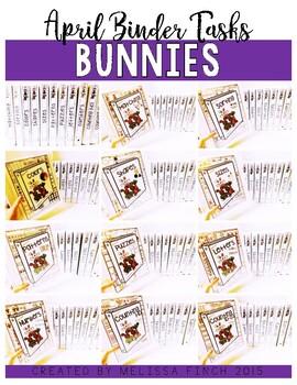 Bunny Binder- Independent Work Binder System