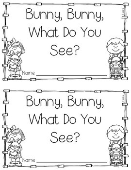 Bunny, Bunny, What Do You See?  Number Words 1-5