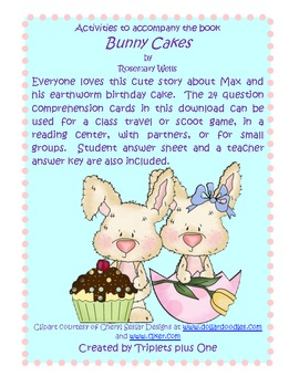 Bunny Cakes Comprehension Activities
