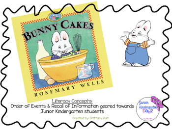 Bunny Cakes Literacy Activity