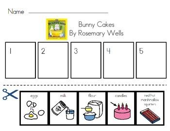 Bunny Cakes Read Aloud Sequencing Activity