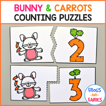 Bunny & Carrots Counting Puzzles 0-20