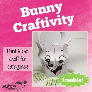 Bunny Categories: No Prep, No Mess FREEBIE