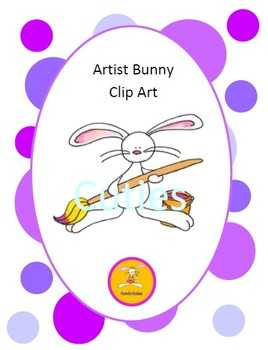Bunny Clip Art -Artist in full color and black line