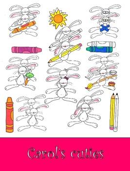 Bunny Clip Art-Basic Bunnies Clip Art