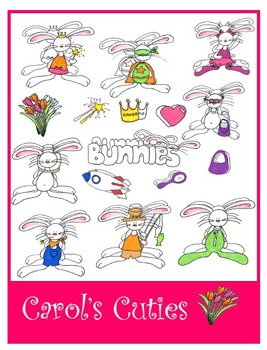 Bunny Clip Art -Dress Up Bunnies Collection