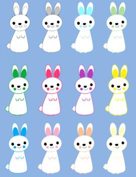 Bunny Clip Art Rabbit Clip Art Spring Clip Art Easter Clip Art Bunny with Carrot