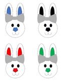 Bunny Color Matching File Folder