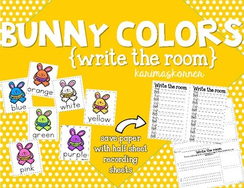 Bunny Colors Write the Room