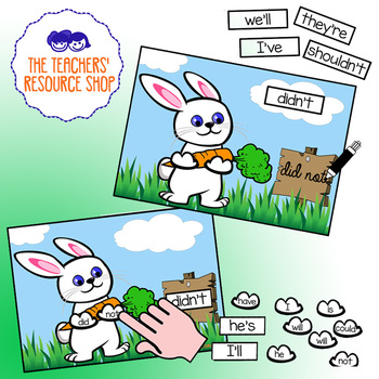 Bunny Contractions Activity