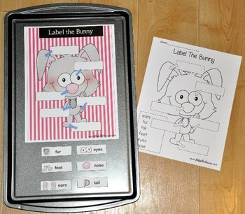 Bunny Cookie Sheet Activities