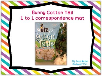 Bunny Cotton Tail (1 to 1 correspondence mat)