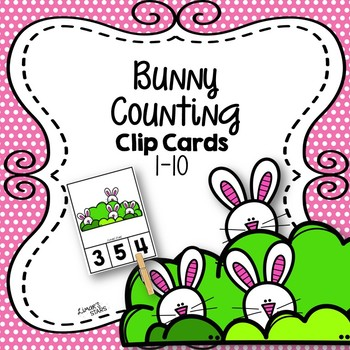 Bunny Counting Clip Cards 1-10