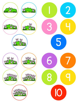 Bunny Counting File Folder Game for Special Education